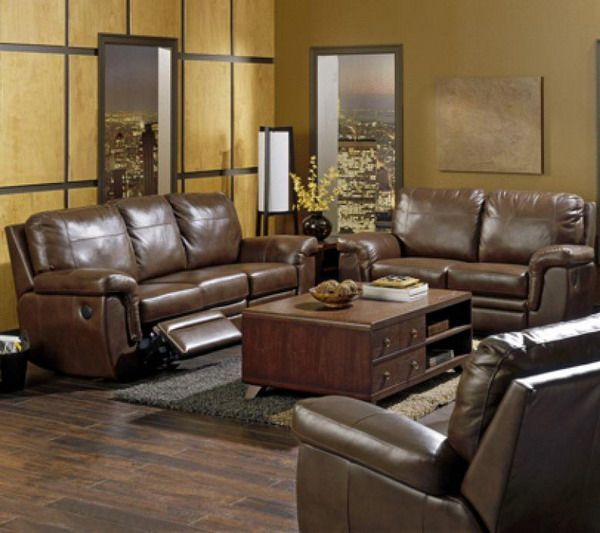 Decorating around a Brown Couch brown leather sofa living room