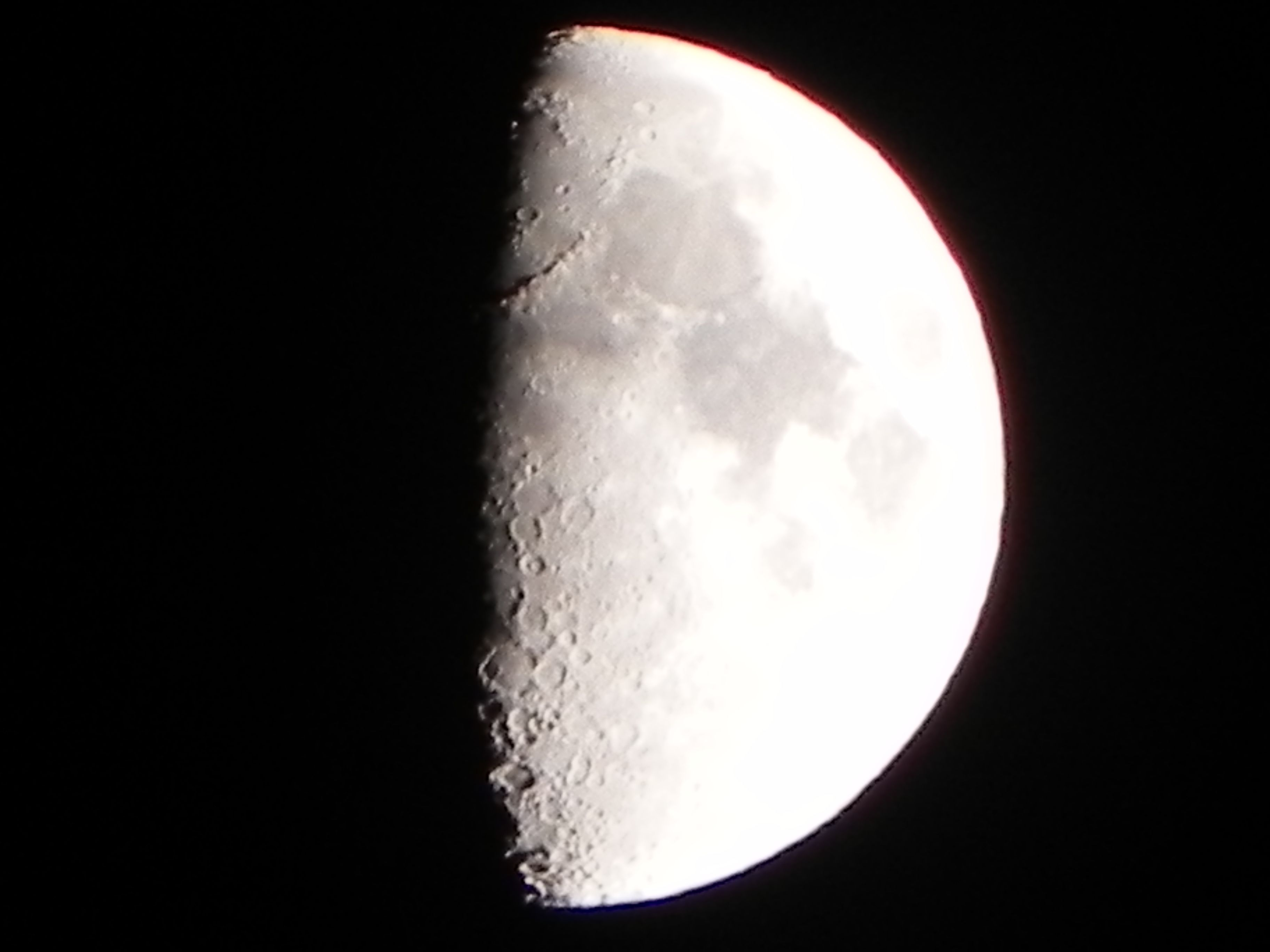 Half Moon. i took this pic in year 2010 by Nikon camera.
