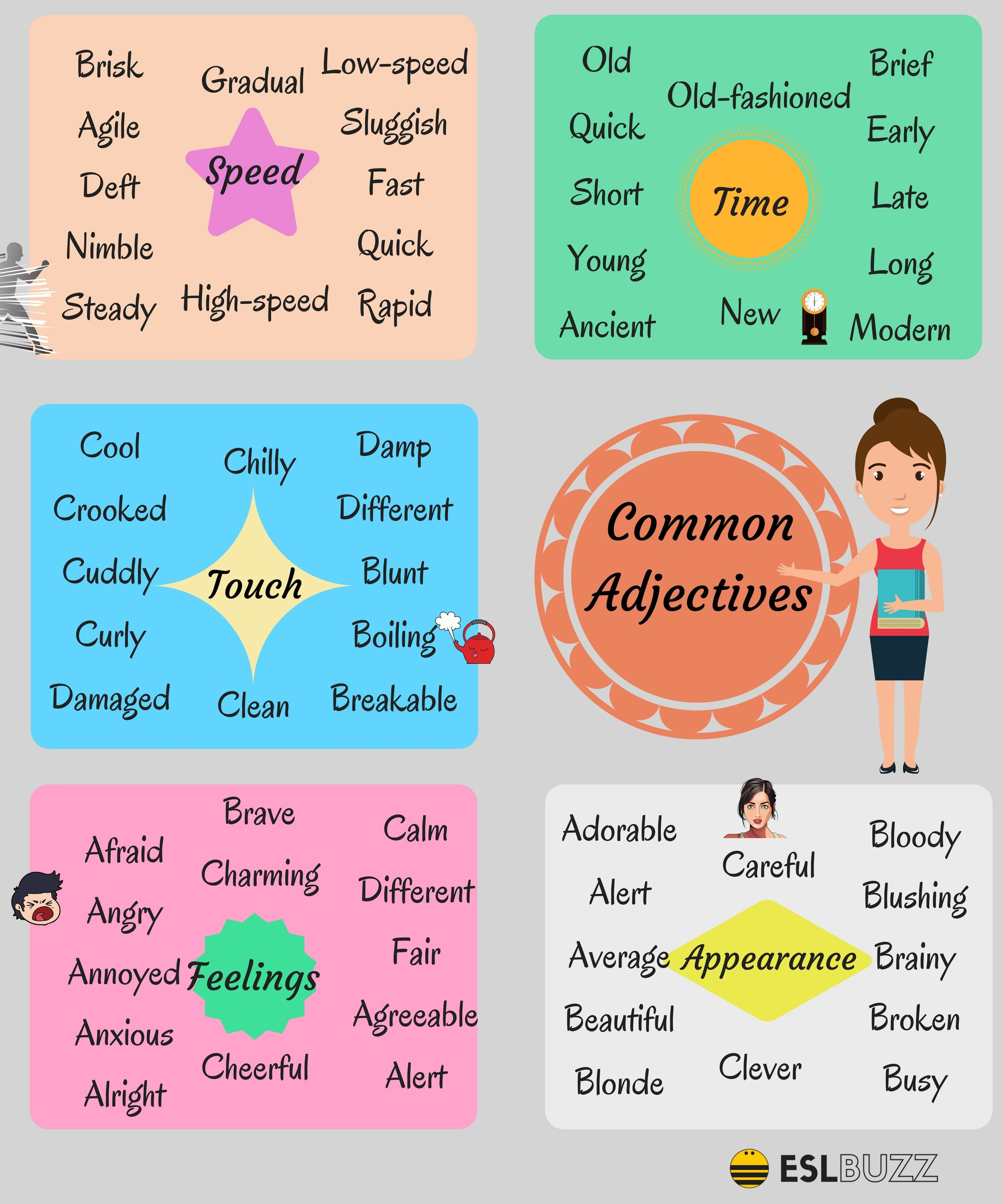 List Of Adjectives Learn Popular Adjectives In English