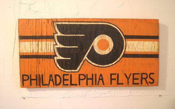 philadelphia flyers sign wooden flyers flag wood flyers sign