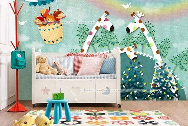 Babyzimmer wandgestaltung wanddeko ideen mit tieren baby