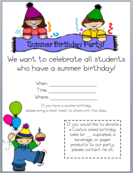 What The Teacher Wants Birthdays End Of The Year Pinterest - Birthday invitation letter to teachers