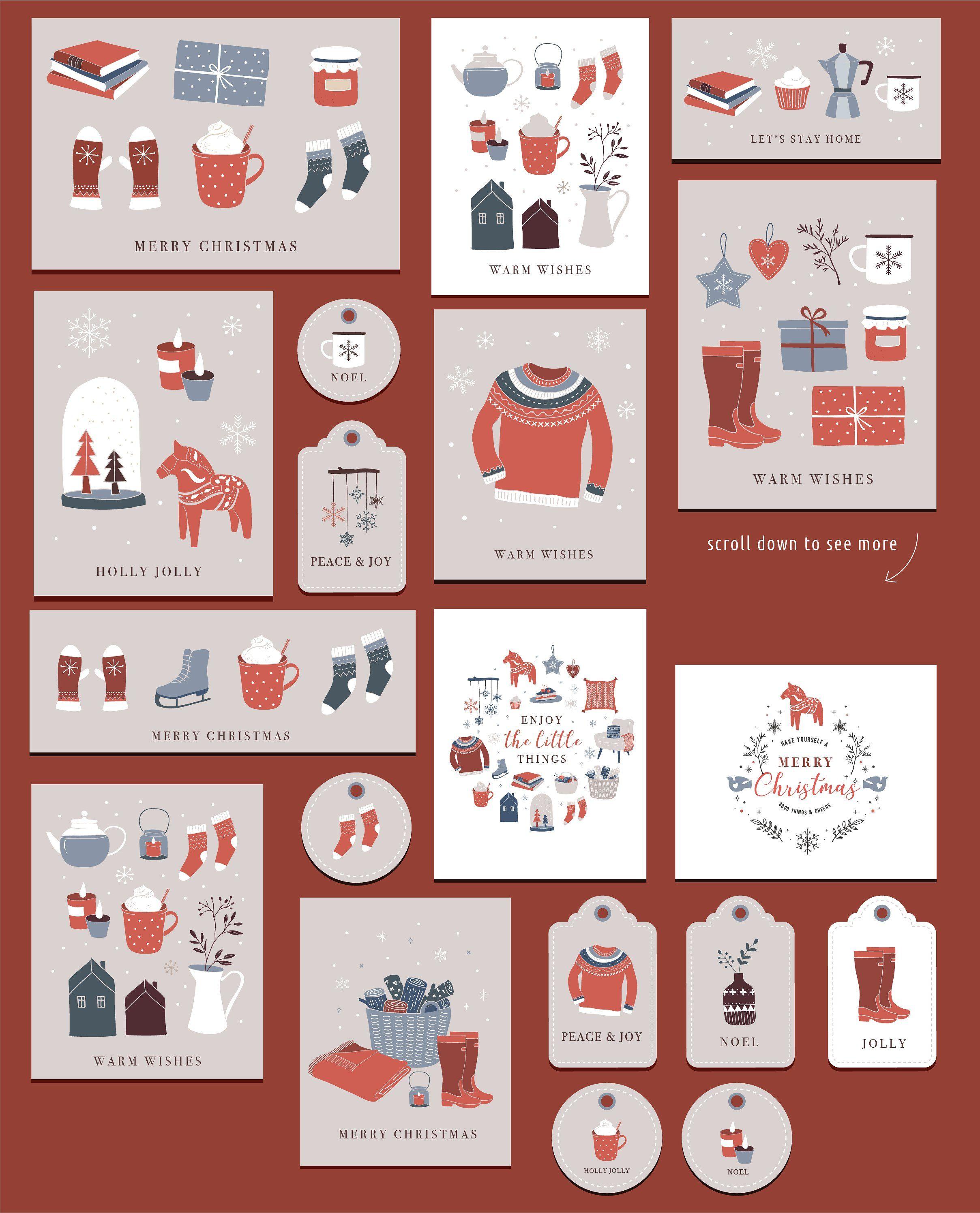 Nordic Christmas - winter collection  Christmas illustration