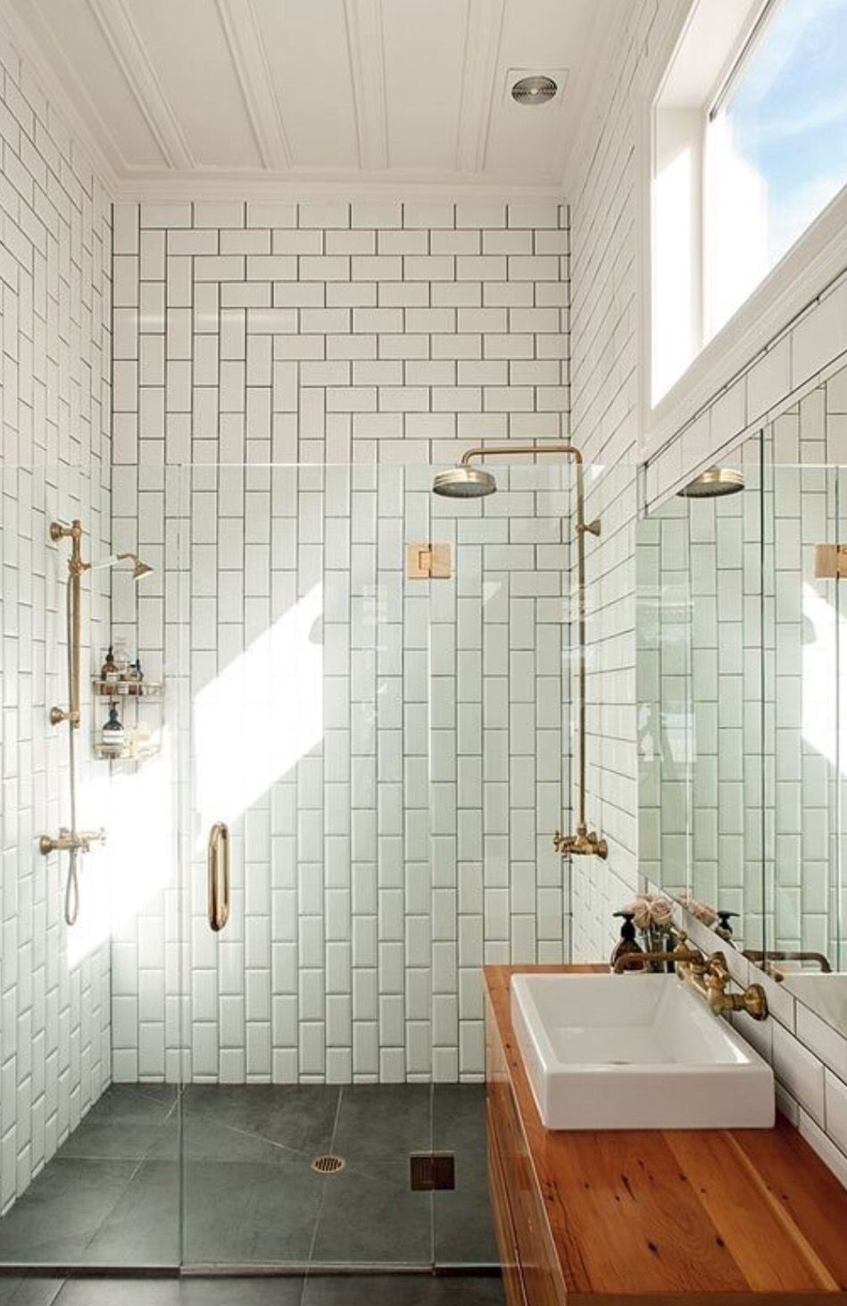subway tile... | like | Pinterest | Subway tiles, House and Interiors