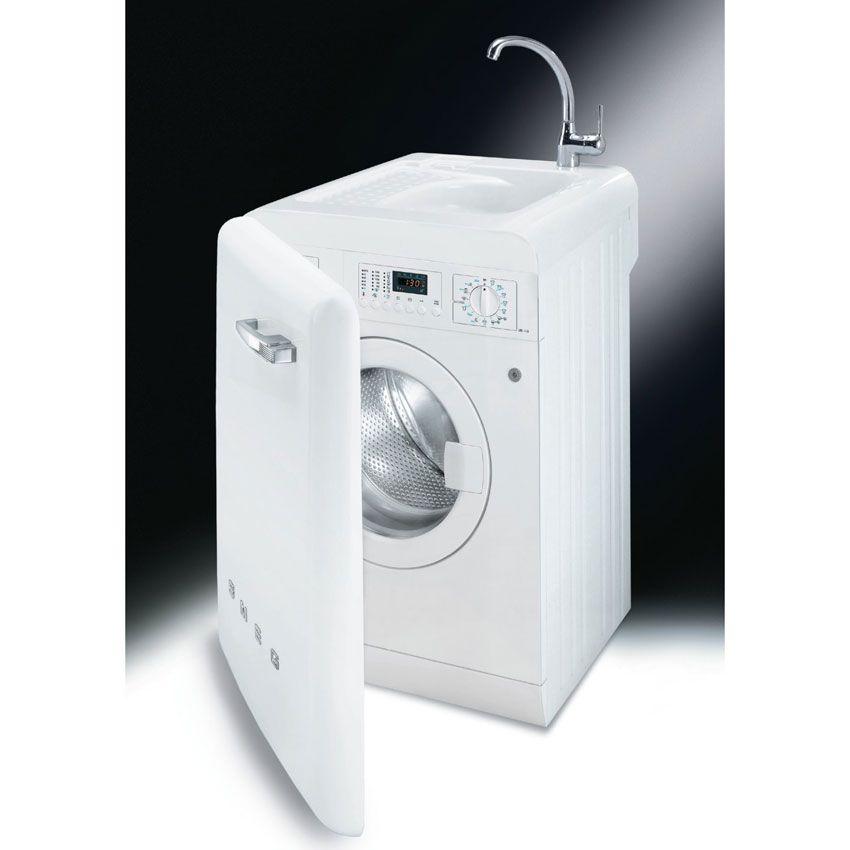 Washing Machine In Kitchen Design: Smeg Lbl14b - Anni 50 Lavage Cm. 60 - Blanc In 2019