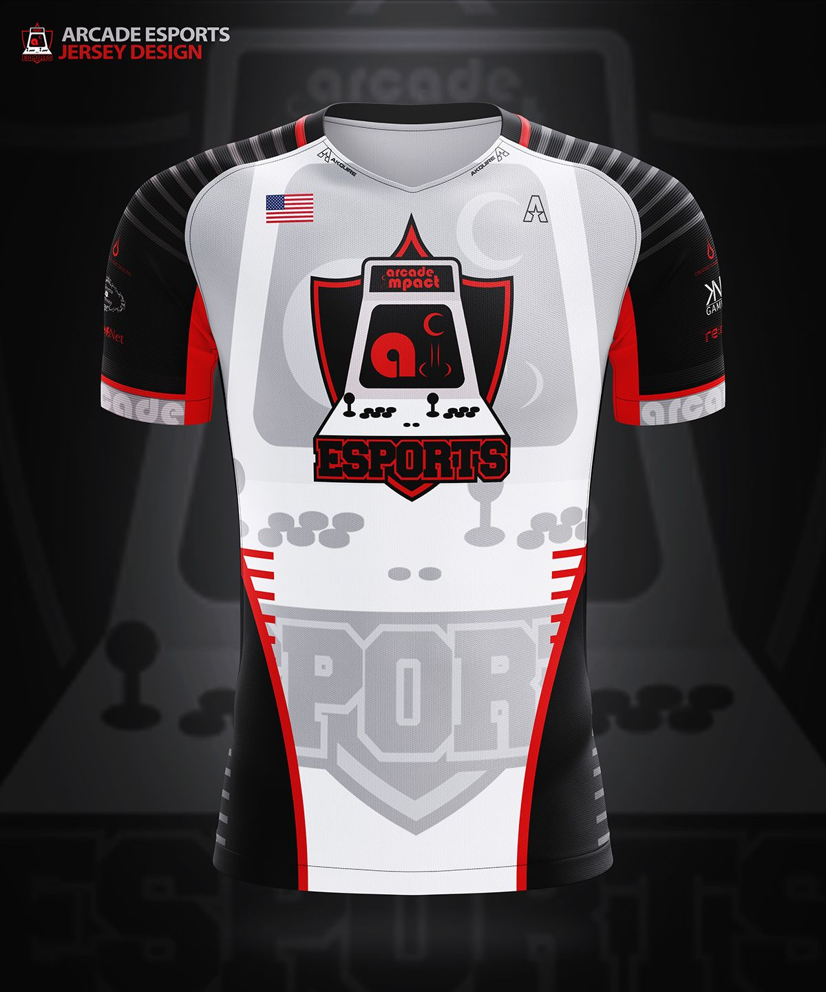 Akquire Clothing Co. Esports Team Jersey Designs on