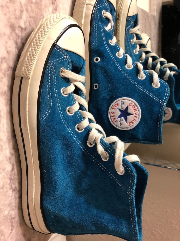 f46dbf10ea5 Blue suede converse. Worn twice. #fashion #clothing #shoes ...