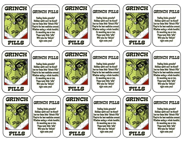 Stupendous image throughout grinch pills printable