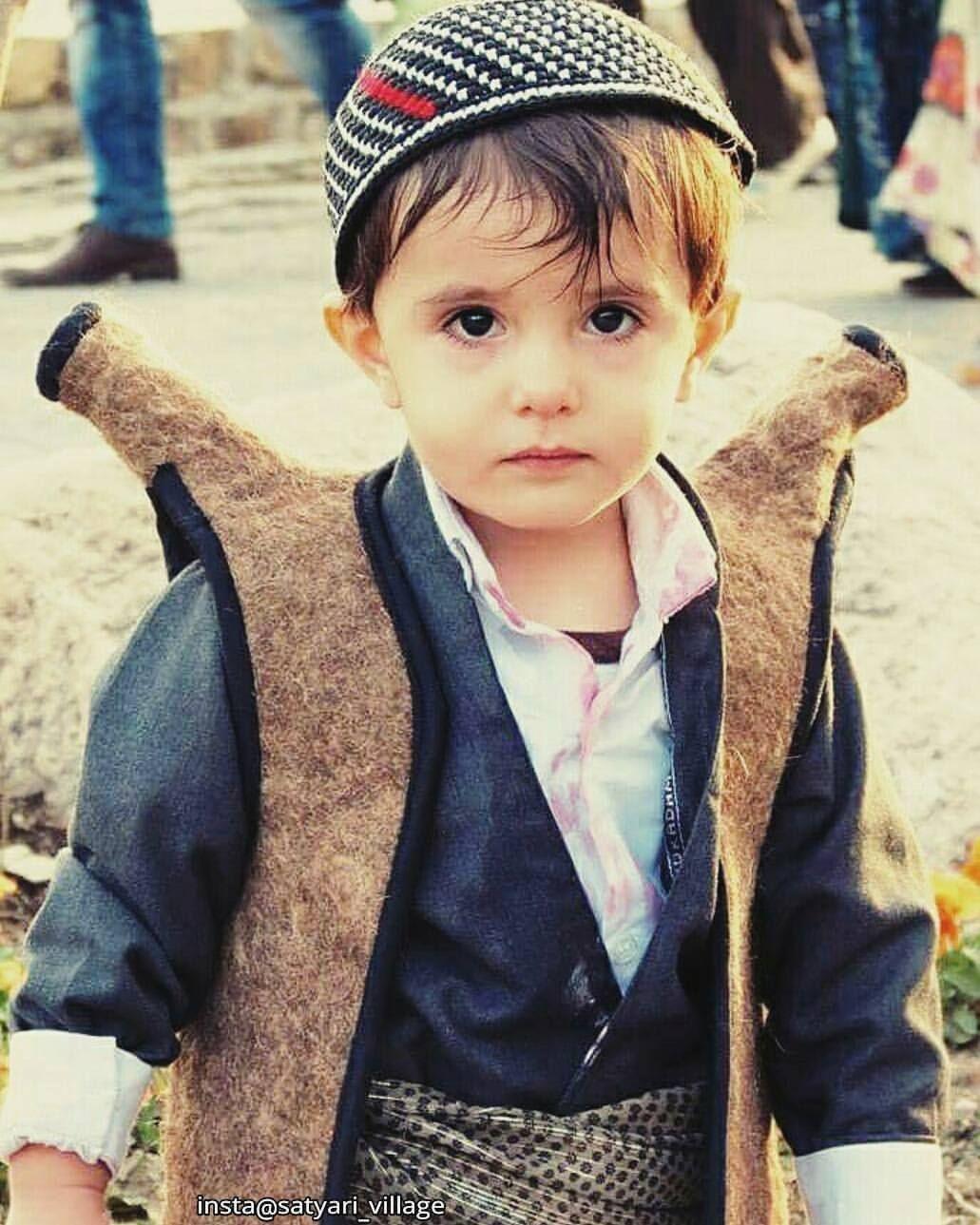 Beautiful Kurdish Boy From Iran In Traditional Attire