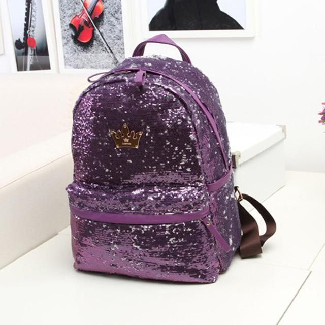 Item Type  Backpacks Brand Name  Luxy moon Gender  Women Model Number   Backpack famous brand glitter sequins Lining Material  Polyester Exterior   Silt ... 91ec10dc727a
