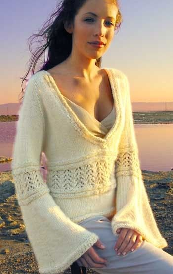 I love the sleeves on this sweater - so feminine and different!