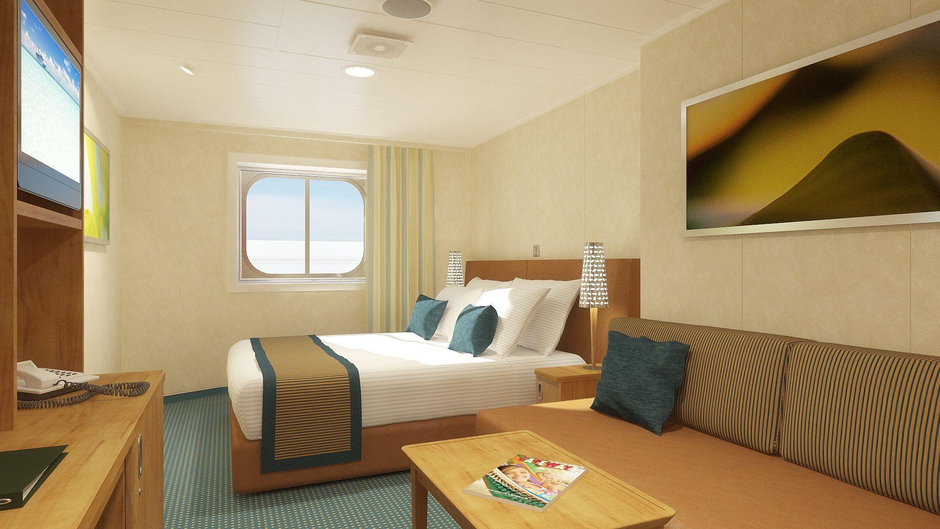 Camarote Exterior (com janela) a bordo do Carnival Breeze