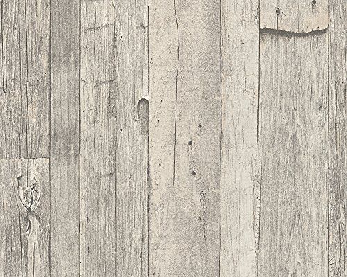 AS Création Tapete Dekora Natur, Mustertapete in Vintage-Holzoptik