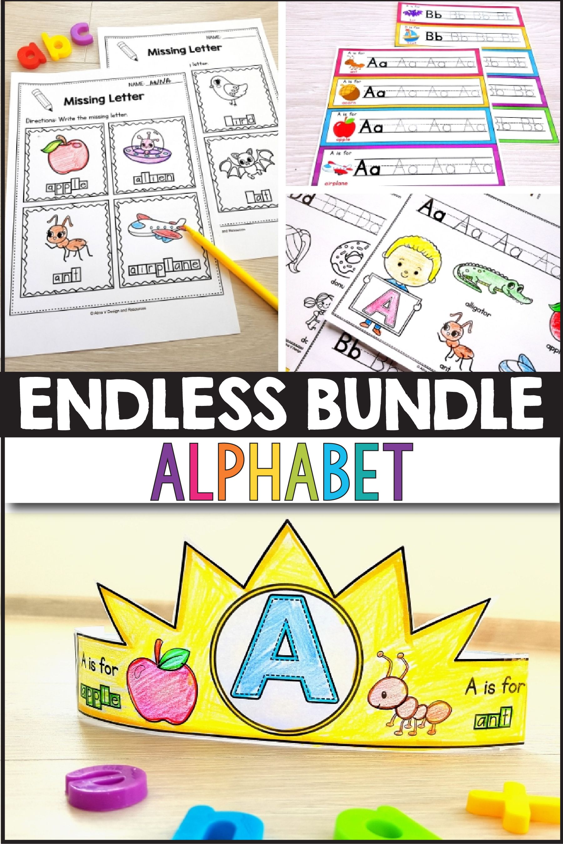 Alphabet Worksheets A Z Letter Practice Beginning Sounds