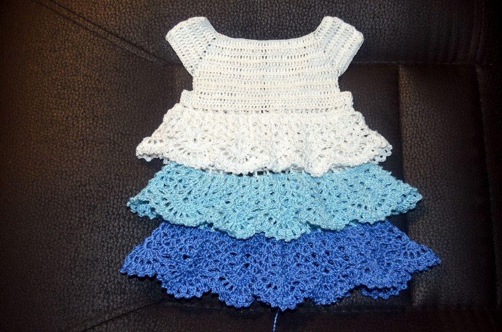 Вязаные вещи ручной работы » Вяжем платье для Baby Born