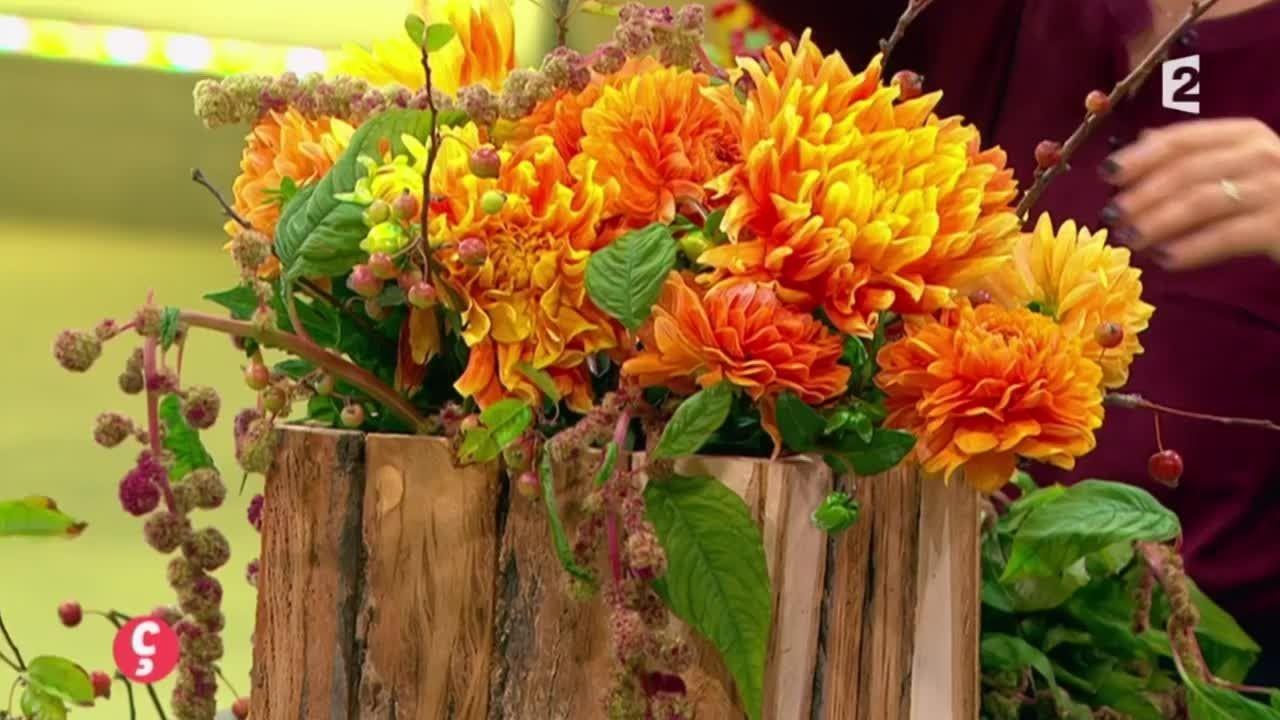 mariage d 39 automne autumn wedding d co art floral avec le dahlia c r monies et. Black Bedroom Furniture Sets. Home Design Ideas