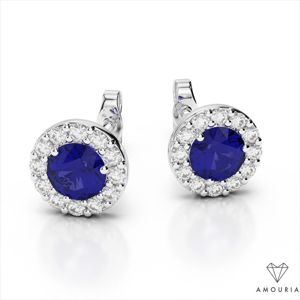 Diamond Miracle Stud Earrings  SI1 Natural Diamonds  14k Solid White Gold  Diamond Blossom  Vintage Jewelry  0.05ct Total to 0.75ct