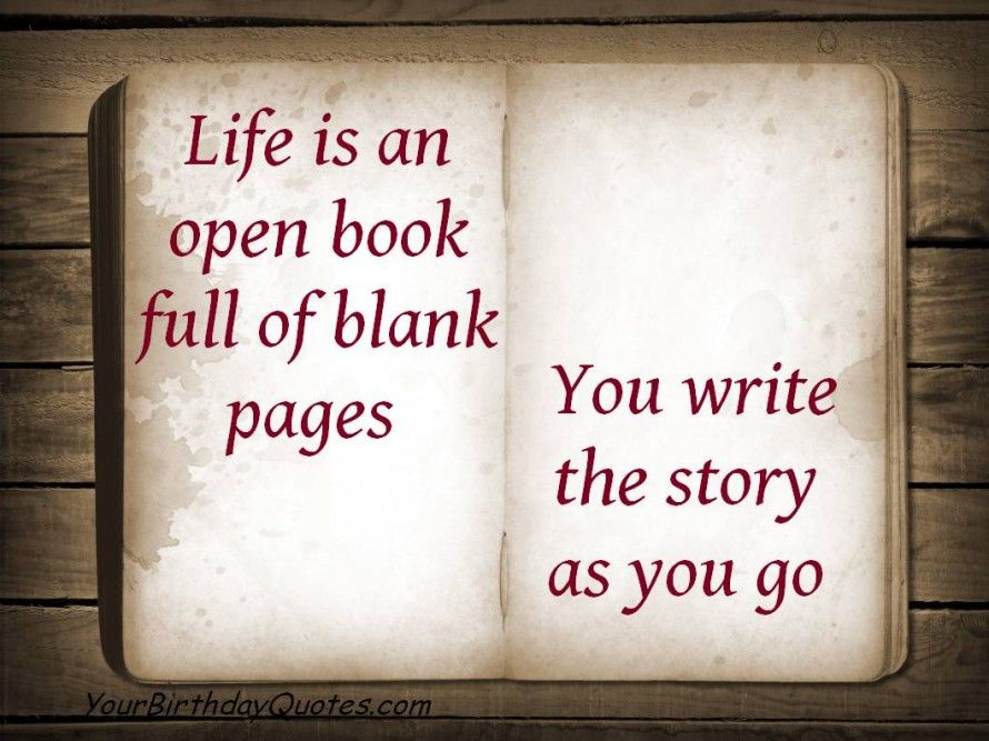 Ordinaire Quotes About Life Open Book Blank Pages Story .