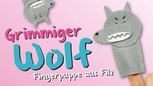 ein grimmiger wolf als fingerpuppe basteln sie mit ihrem