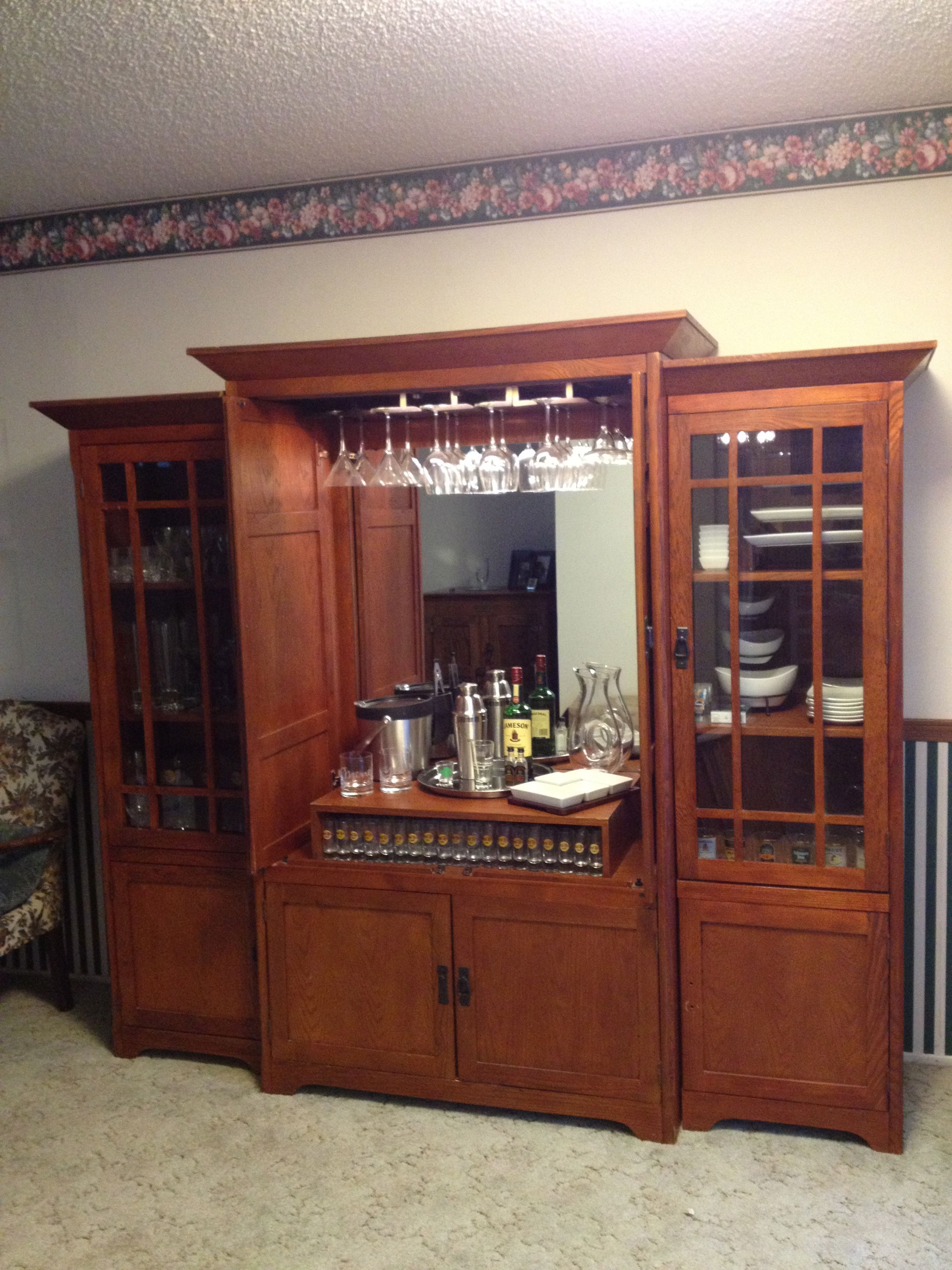 Diy Bar Repurposed Entertainment Center
