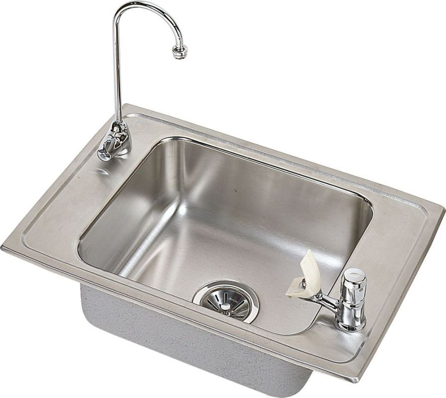 Elkay Pacemaker Single Basin Drop In Stainless Steel Kitchen S Stainless  Steel Fixture Utility Sink Combination