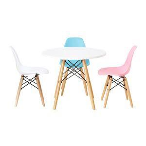 Officeworks Replica Eames Kids Table And Chairs Retro Chair Kids Chairs Kids Play Table