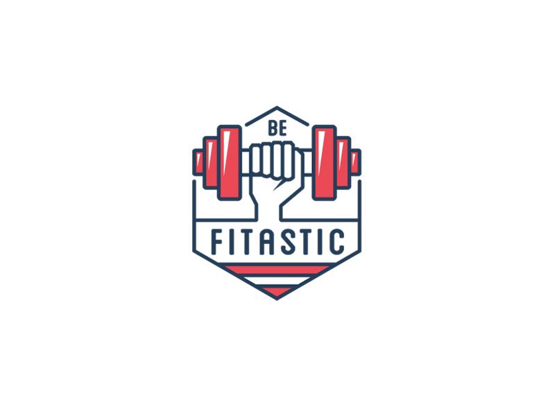 BE FITASTIC Sports brand logos, Fitness logo design