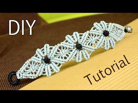 Macramé Flower Bracelet Tutorial Youtube Tuto