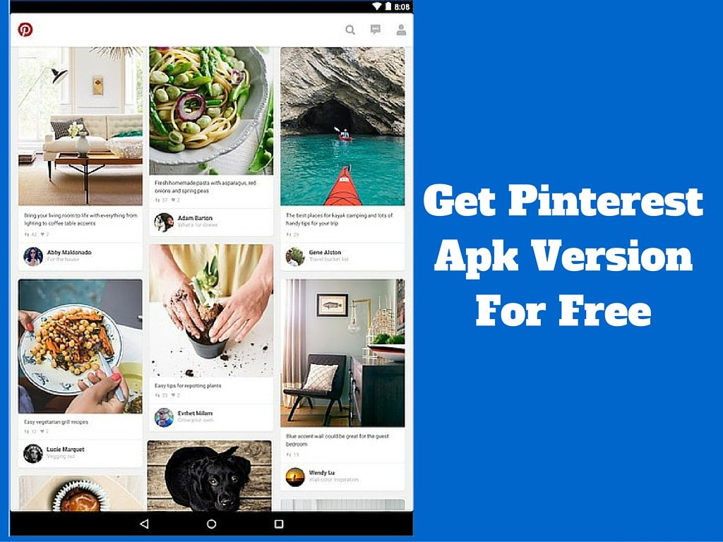 Download pinterest Apk For Your Android Devices. Android