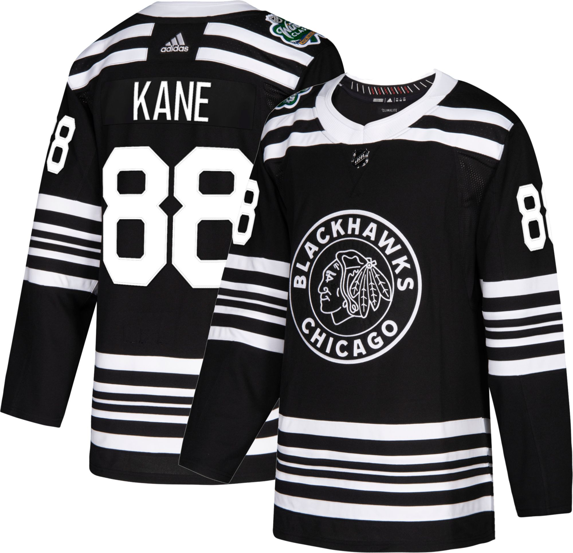 d6ea35535d8 adidas Men's 2019 Winter Classic Chicago Blackhawks Patrick Kane #88  Authentic Pro Jersey, Size: 56, Black