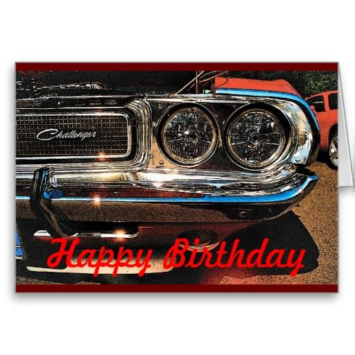 Classic Funny Car Board: Birthday Muscle Car Card