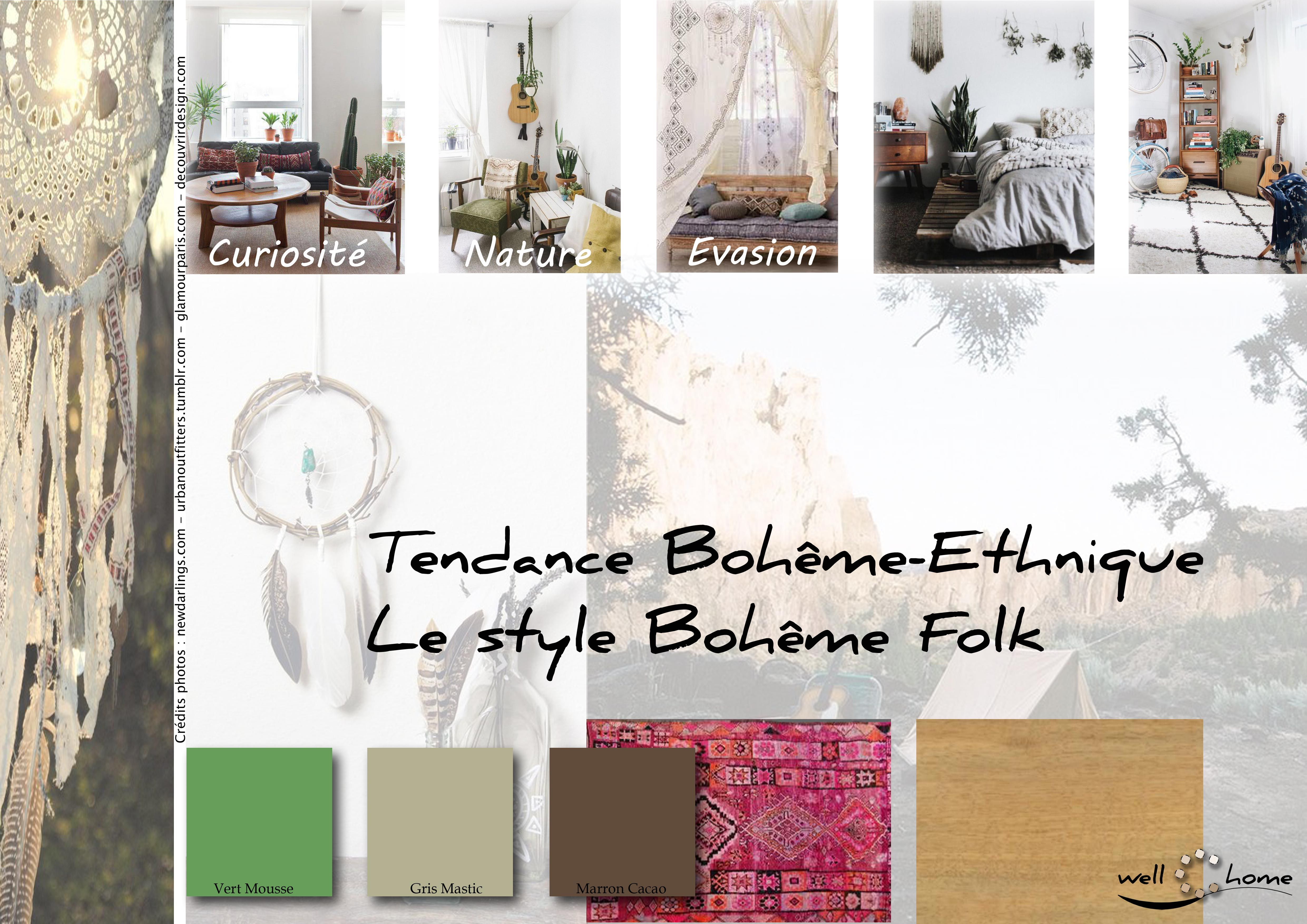 Moodboard d co planche d 39 ambiance tendance boh me etchnique style folk r alisation well c - Planche d ambiance ...