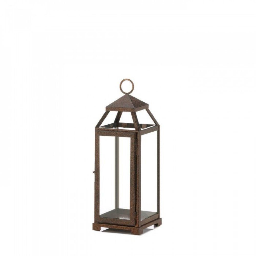 Decorate Your Indoor Or Outdoor Space With This Charming Copper Lantern Display This Lantern On Its Own With A Pi Copper Lantern Candle Lanterns Copper Candle
