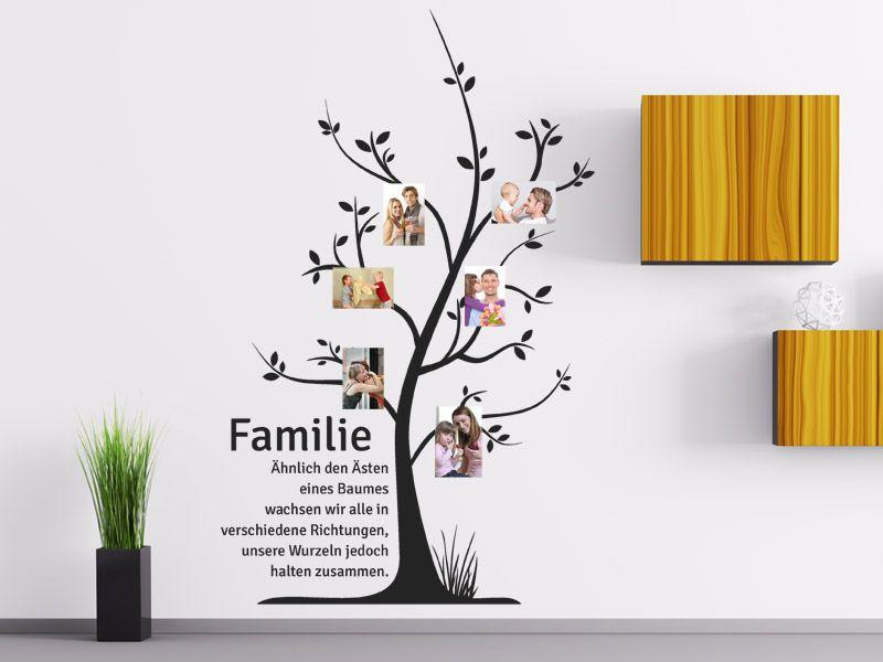 Wandtattoo Familienbaum mit Fotos Craft - wandtattoo für badezimmer
