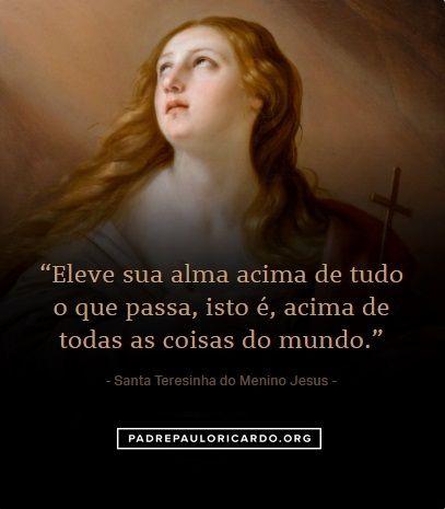 Santa Teresinha Do Menino Jesus E Da Sagrada Face Frases Eleve Sua