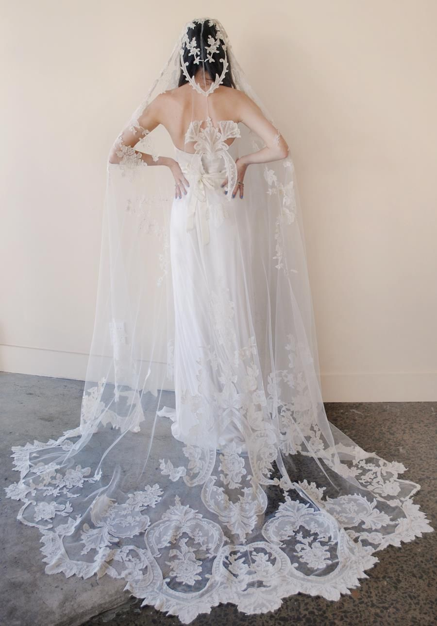 Long veil wedding dresses  Pin by Eleanor Carson on Celebrity wedding dresses  Pinterest