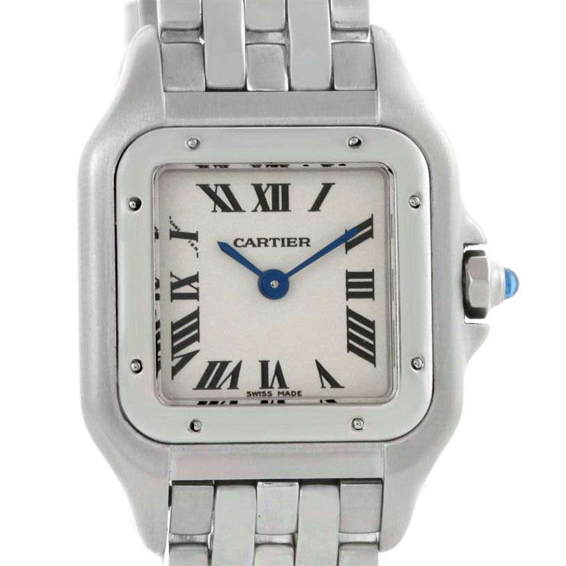 3a89bc74df6d Cartier Panthere Ladies Small Stainless Steel Watch W25033P5 Used Watches