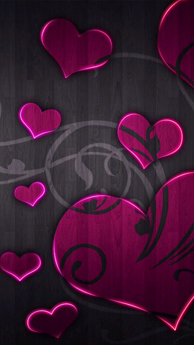 Background for iPhone or app icon pink hearts Heart