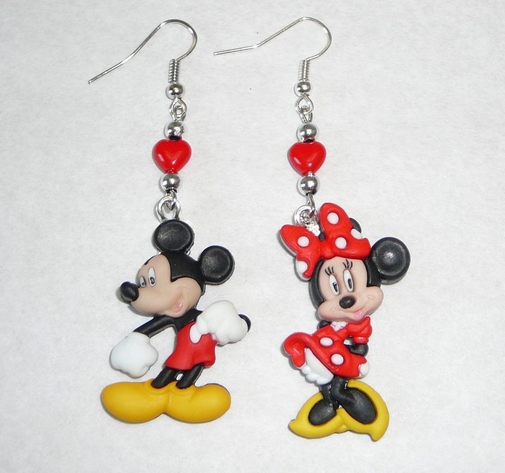 Disney S Mickey Mouse And Minnie Drop Dangle Earrings