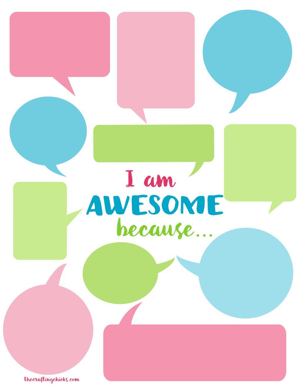 I Am Awesome Self Esteem Builder