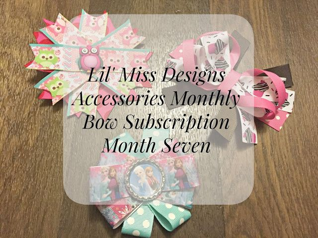 Lil' Miss Designs Accessories Monthly Bow Subscription- Month Seven