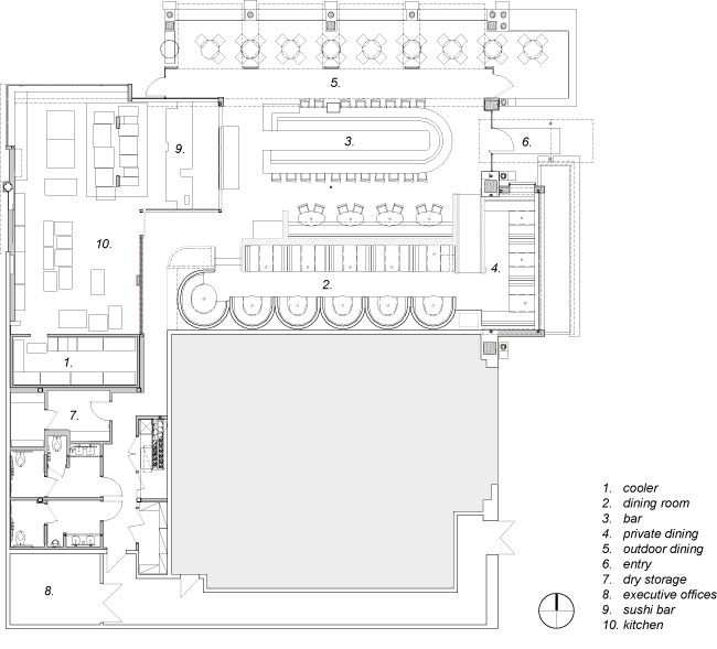 Cafe r d prototype restaurant by loha floor plan for Floor plan drafting services
