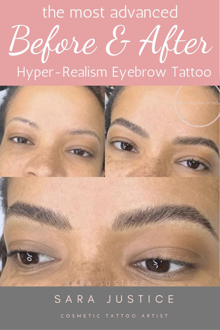 These Permanent Eyebrows using HyperRealism Eyebrow
