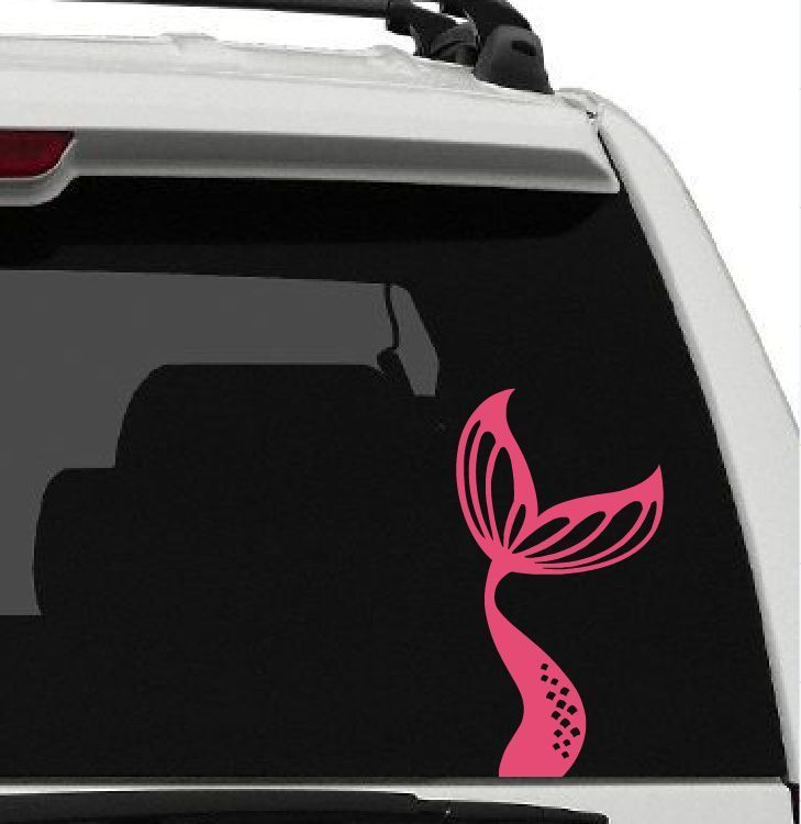 MERMAID Tail Vinyl Car Window DECAL Sticker Beach Ocean Sand Water - Modern business vehicle decals