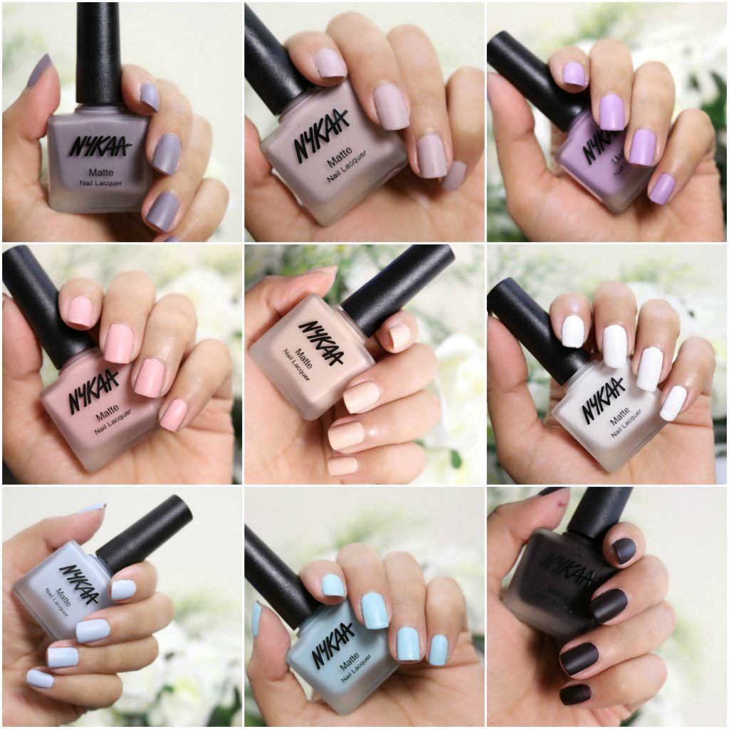 Nykaa Matte Nail Paints Manicure And Pedicure Pedicures Indian Makeup Beauty Nails