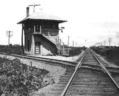 Railroad Interlocking Tower 64 Greenville Texas 1930