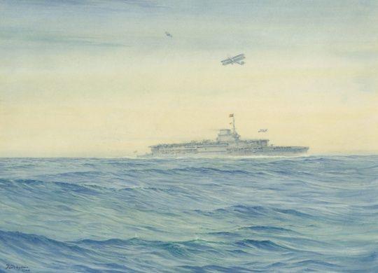 HMS Courageous. Off Portland, 1932.