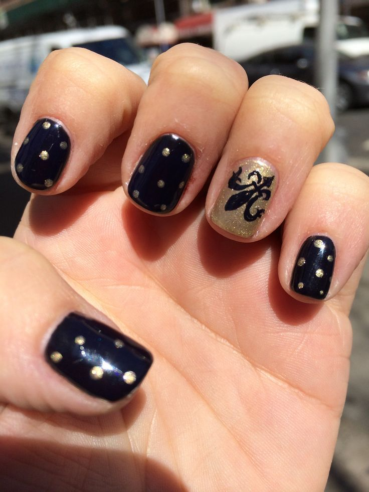 New Orleans Saints Nails | Nailed It! | Pinterest | Saints nails ...