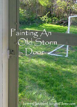 Painting A Storm Door, How To Paint A Storm Door