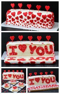 "Photo of Raspberry Lemon ""I ❤ You"" Valentine's Day Reveal Cake   Hungry Happenings –  C…"